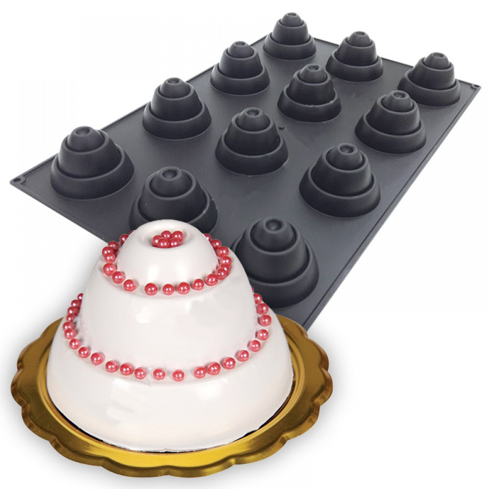 12 Li Profesyonel Silikon Volkanik Pasta Kek Kalibi
